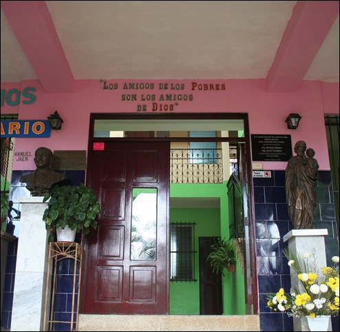 The entrance to the orphanage.